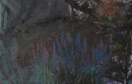 Levandule, 95 x 150 cm, akryl na plátně