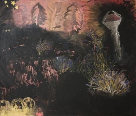 Lampa, 140 x 175 cm, akryl na plátně
