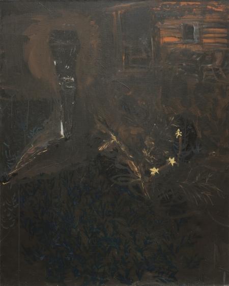 Kozín - večer, 100 x 80 cm, akryl na plátně