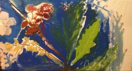 Políčko VII, 95 x 175 cm, akryl na plátně