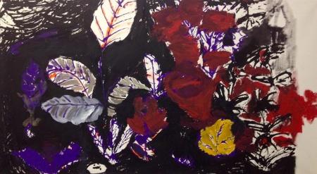 Políčko XII, 95 x 175 cm, akryl na plátně