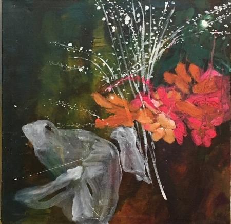 Políčko - Kozín I, 80 x 80 cm, akryl na plátně