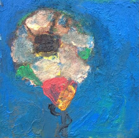 Políčko X, 25 x 25 cm, akryl na plátně