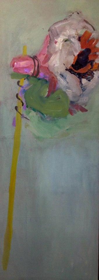 Políčko I, 210 x 70 cm, akryl na plátně, reservováno