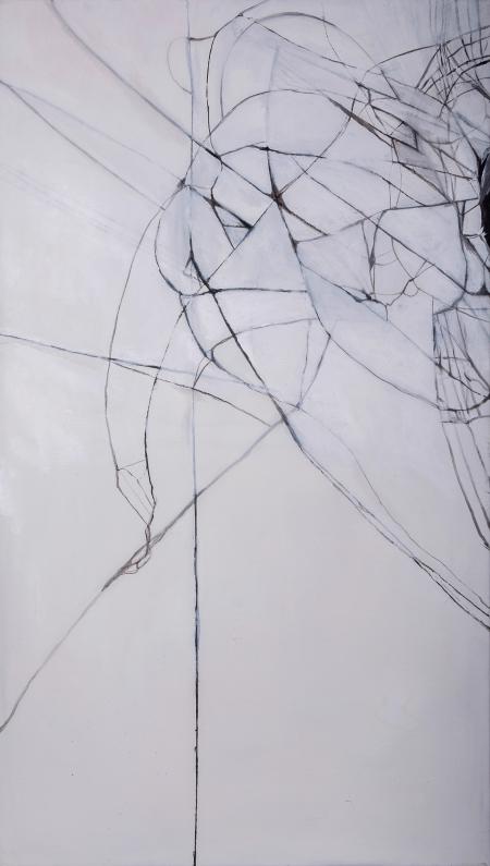 Prasklina III, 160 x 90 cm, akryl na plátně