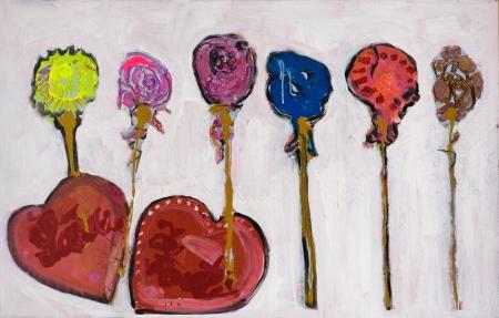 Z lásky II, 70  x 110  cm, akryl na plátně