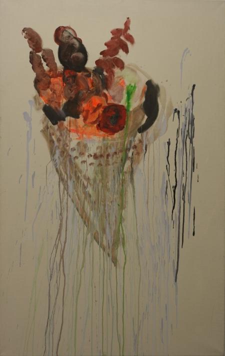 Stále živé I, 170 x 100 cm, akryl na plátně, reservováno