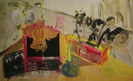 Stůl V, 105 x 175 cm, akryl na plátně