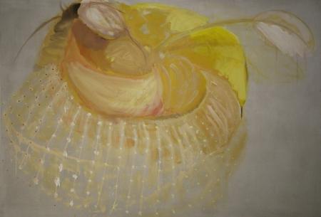 Svatební klobouček, 140 x 200 cm, akryl na plátně