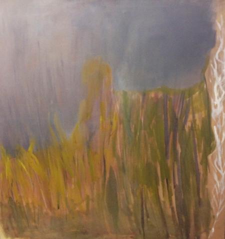 Trávy I, 125 x 120 cm, olej na plátně