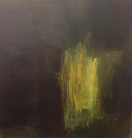Trávy III, 125 x 120 cm, olej na plátně