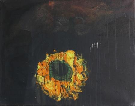 Věneček, 50 x 70 cm, akryl na plátně, soukromá sbírka