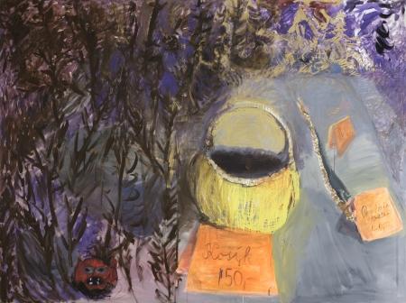 Zahrada I, 140 x 200 cm, akryl na plátně